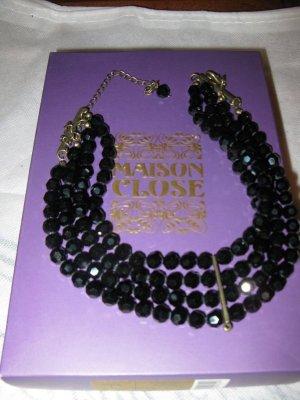 leicht erotische neue schwarze Designer-Kette (choker), Kadewe, Maison Close
