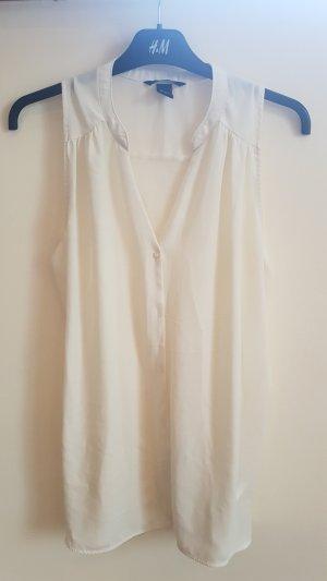 leicht transparente ärmellose Bluse