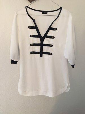 Bardot Blusa blanco-negro
