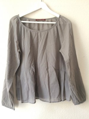 Leicht transparente Bluse in warmem Grau
