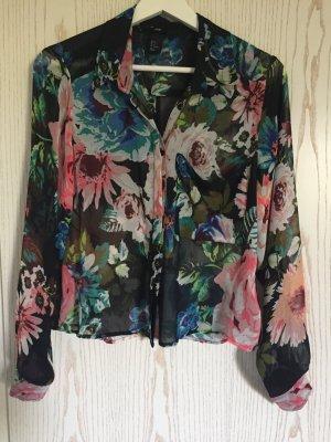 Leicht transparente Bluse mit Blumenmuster