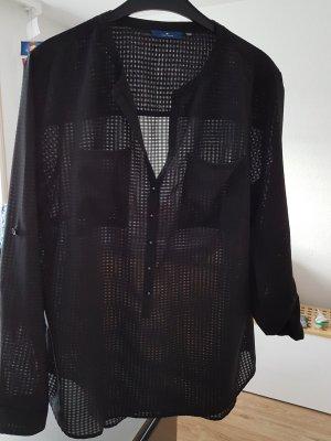 leicht transparente Bluse Tom Tailor Gr. 42 schwarz