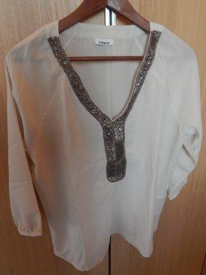 leicht transparente Bluse von Only