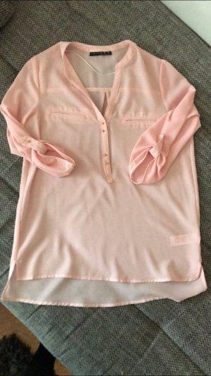 Leicht transparente rosa Bluse