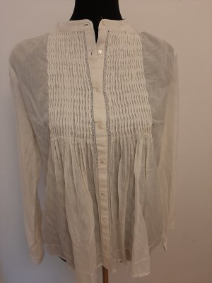 Leicht transparente weiße Bluse von MANGO
