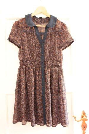 Leicht transparentes, schickes Kleid mit Kragen in Größe 34/36