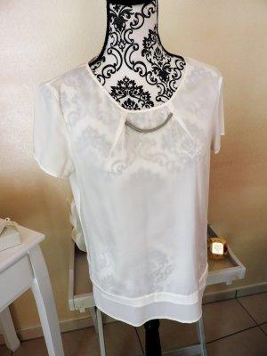 Leicht transparentes Shirt Rundhals viele Details Sir Oliver Gr. 36