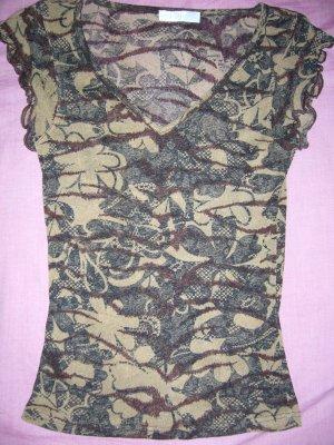 Leicht transparentes T-Shirt in Brauntönen Promod XS 34