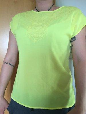 Leicht Transparentes Top Gelb - Größe 34/36 - NEU