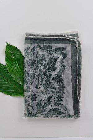 Vintage Châle blanc-noir