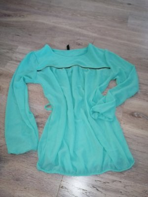 Forever 21 Transparante blouse turkoois