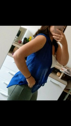 H&M Blusa sin mangas azul