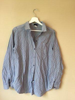 H&M Linnen blouse wit-azuur