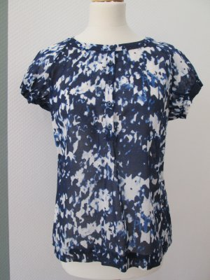 leichte Bluse aus Baumwolle in Blautönen Gr. 36