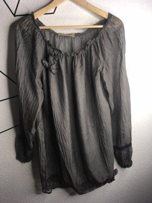 The Hackbarth's Transparante blouse donkergrijs