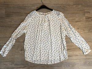 Leichte Bluse beige mit Muster