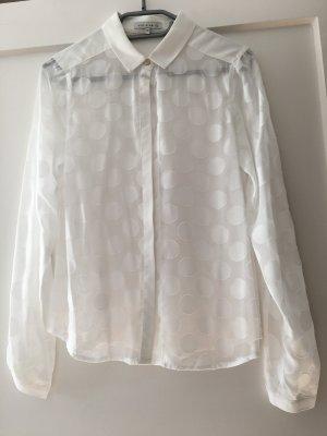 Leichte Bluse gepunktet in weiss