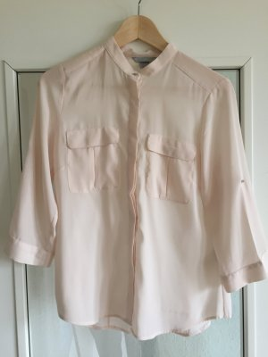 Leichte Bluse in nude Rosé