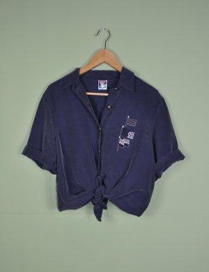 Leichte Bluse mit maritimer Stickerei