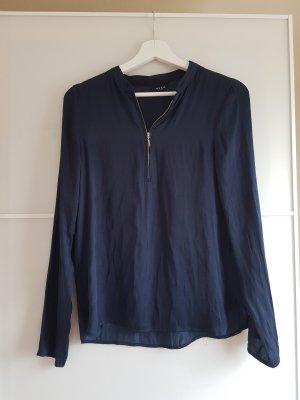 leichte Bluse mit Reißverschluss