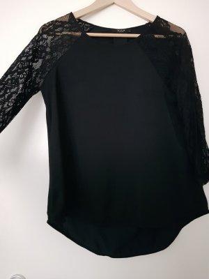 leichte Bluse mit Spitzenärmeln