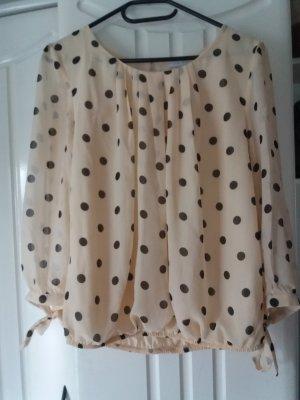 Leichte Bluse mit Tupfenmuster