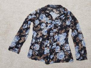 Leichte Bluse Oberteil in schwarz hell Braun hell blau Gr. S