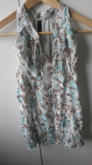 Leichte Bluse ohne Ärmel in schönen Pasteltönen