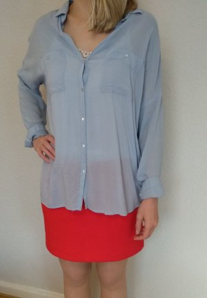 H&M Blusa taglie forti azzurro