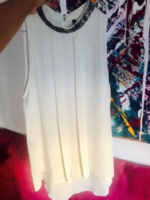 Benetton Blusa senza maniche bianco sporco
