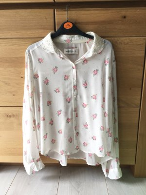 Abercrombie & Fitch Blouse transparente blanc-rose