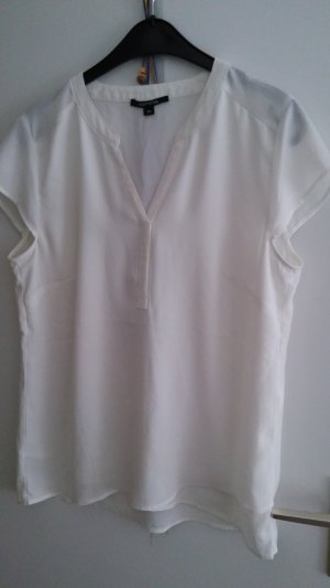 Comma Stand-Up Collar Blouse natural white viscose