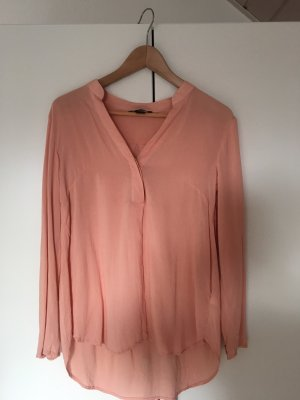 H&M Stand-Up Collar Blouse pink-apricot