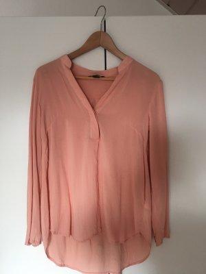H&M Blusa de cuello alto rosa-albaricoque