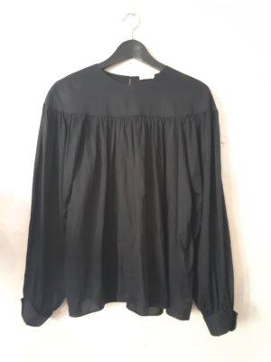 Oversized blouse zwart