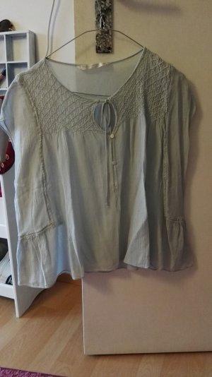 leichte Bluse ZARA S in graublau