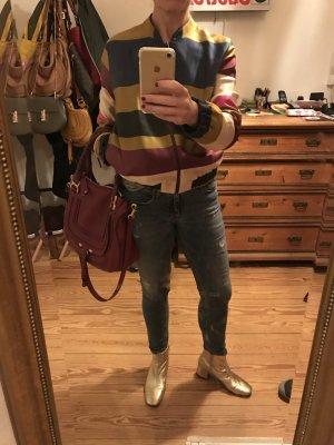 H&M Blouson aviateur multicolore coton