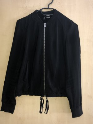 H&M Giacca bomber nero-argento