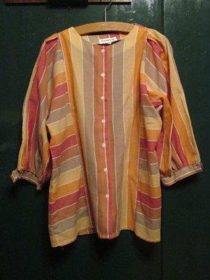 Camicetta a maniche lunghe multicolore Tessuto misto