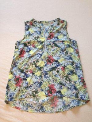 Leichte, bunte Bluse mit tropischem Print