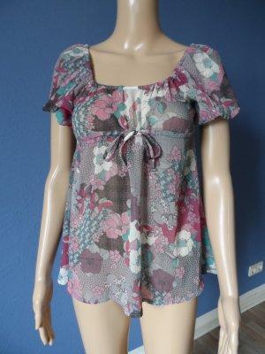 Leichte Chiffon-Bluse mit Blumenmuster