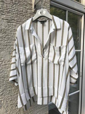 Leichte, coole Hemd Bluse mit Streifen. Luftig, weit geschnitten