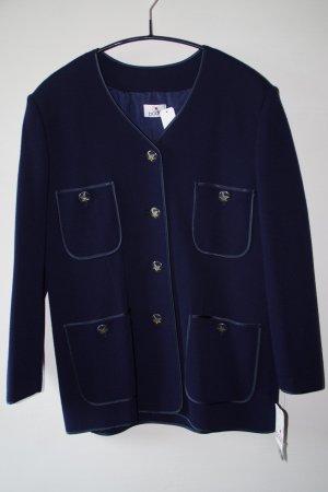 Leichte Damenwolljacke in dunkelblau