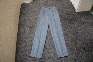 Hoge taille broek grijs-bordeaux Gemengd weefsel
