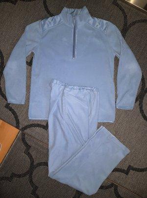 Leichte Fleece Homewear Freizeitanzug Hausanzug Loungewear Hellblau 36/38