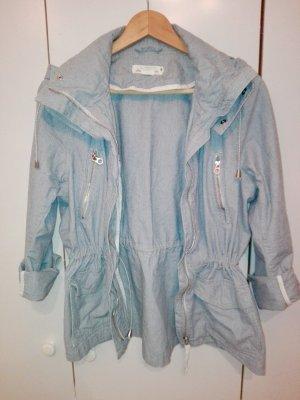 H&M Giacca con cappuccio bianco-azzurro