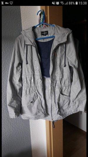 C&A Between-Seasons Jacket natural white-dark blue