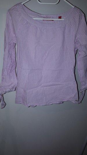 leichte gestreifte Baumwoll-Bluse