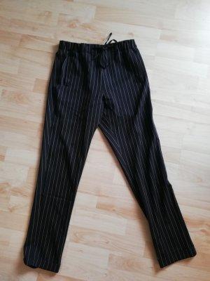 24Colours Pantalone chino bianco-nero Poliestere