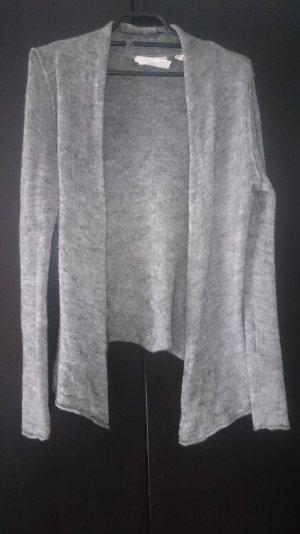 leichte graue Wolljacke